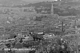 View of Bath from Beechen Cliff. Detail of Broad Quay and Southgate c.1930