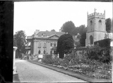 Widcombe Manor, church and garden c.1928