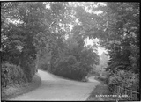 Claverton Lane and the lodge and gates to Claverton Manor, c.1908