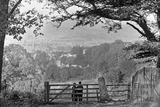 Gate to view from Monument Fields c.1920 - detail