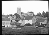 Norton St Philip, village view with church 1910