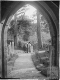 Looking out from the Church at Ditteridge, c.1920