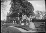 Houses opposite the church in Farleigh Hungerford c.1920s
