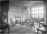 The fireplace and drawing room at South Wraxall Manor 1 July 1935