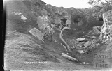 The west end of the Seven Sisters Quarry before demolition, Hampton Rocks, Bathampton Down c.1916