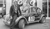 Jenson Button's father John Button and Fizzer, his autocross VW Beetle 15 Sept 1976