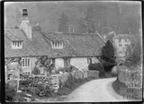 Cottages at Iford with the Manor in the background c.1920s