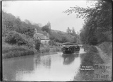Pleasure boat on the Kennet and Avon Canal near Avoncliff c.1920