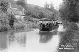 Pleasure boat on the Kennet and Avon Canal near Avoncliff c.1920 - detail