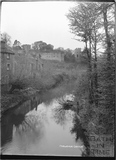 View of Farleigh Castle from the river c.1931