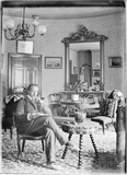 Self Portrait inside dining room of 40 Great Pulteney Street c.1910