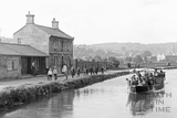 Pleasure boat on the Kennet and Avon Canal, Bathwick, Bath c.1920 - detail