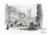 The Lion Hotel, Guildhall & Abbey Church, Bath 1844