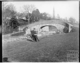 Stone bridge at the entrance to the Somersetshire Coal Canal at Dundas, c.1910