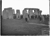 Visitors at Stonehenge at sunrise c.1929