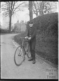 Telegram boy and bicycle, Horseshoe Walk c.1910s