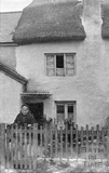 Copy of photograph of unidentified house in Bath? c.1890s, taken in about 1910