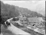 Hideaway Cottage and 3 Middle Stoke from the Warminster Road above Limpley Stoke c.1900
