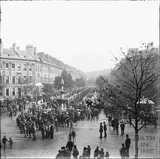 Gathering at Laura Place, Great Pulteney Street c.1890s