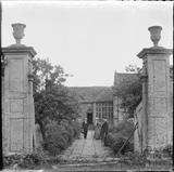 Gateposts and approach to South Wraxall Manor c.1890s