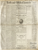 Front page of the Bath and Wilts Chronicle, Saturday September 27, 1919