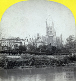 Bath Abbey from the River Avon, Bath c.1863
