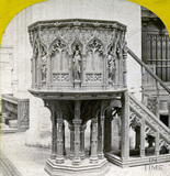 The pulpit, Bath Abbey, Bath c.1870