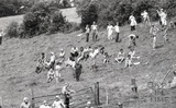 Onlookers to the demolition of Dunkerton Viaduct 20 July 1981