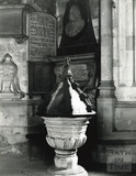 The font at Bath Abbey c.1894