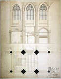 Plan for the Erection of the New Organ, Bath Abbey, date unknown