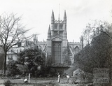 Bath Abbey viewed from across Parade Gardens, c.1890