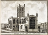 The East South East View of the Abbey Church 1785