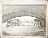 Bathford, seen from under the railway bridge No. 1 18th July 1864