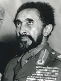 Portrait of Haile Selassie, Emperor of Ethiopia 1954