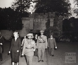 Emperor Haile Selassie at Newton Park, Bath Oct 1954