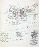 Copy of a plan of the manor of Kelweston (Kelston) in the County of Somerset belonging to Henry Harrington Esq. surveyed 1744