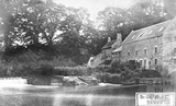 The Old Mill, Bathampton with rope / chain ferry c.1905