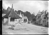 Looking up the street, Castle Combe No.7 c.1930s