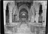 Inside Edington church, Wilts c.1920s