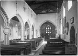 Inside Kilmersdon Church, Somerset c.1938