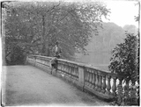 The bridge over the lake at Orchardleigh 1926