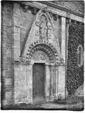 Norman north door at Lullington, 1926