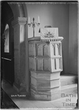 The Pulpit, St Andrews Church, Coln Rogers, Gloucestershire c.1935