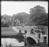 View of the Manor House and bridge, Castle Combe c.1900