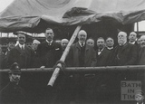 Mr Jonathan Carr laying the foundation stone for Twerton Elementary School, 19 December 1910