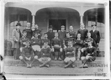 Copy of an early photograph of a rugby team, Bath c.1890s