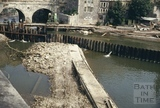 Pulteney Weir, during construction, June 1971