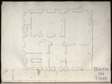 Floor plan of unidentified building by John Wood c.1737