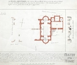 Plan of a section of the ancient Roman Baths discovered 1756, 1799-1803