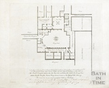 Plan of the King's & Queen's Baths with proposed buildings 'pricked in' 1780s?